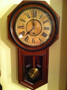Antique Junghans A11 1890s Wall Clock German Oak Mahogany
