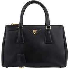PRADA Mini Saffiano Tote ($1,410) ❤ liked on Polyvore featuring bags, handbags, tote bags, purses, bolsas, accessories, purse, mini key ring, accessories handbags and mini tote