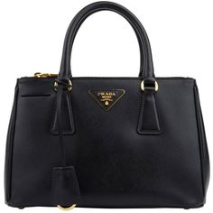 PRADA Mini Saffiano Tote ($1,410) ❤ liked on Polyvore featuring bags, handbags, tote bags, purses, bolsas, accessories, purse, mini key ring, accessories handbags and mini tote
