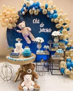 [New] The Best Home Decor (with Pictures) These are the 10 best home decor today. According to home decor experts, the 10 all-time best home decor. Baby Shower Decorations For Boys, Boy Baby Shower Themes, Baby Shower Balloons, Baby Decor, Baby Shower Parties, Baby Boy Shower, Baby Shower Buffet, Baby Shower Cakes, Teddy Bear Birthday