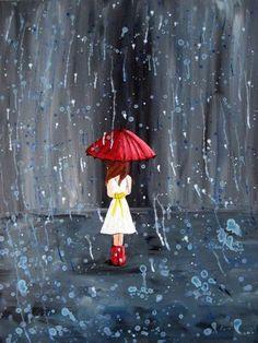 Намокли души под дождём, на остановке у судьбы.