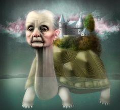 Turtle by Zuzana Dolinay timelapse: https://www.youtube.com/watch?v=AQj0Si_ytAI