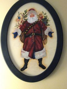 Tole painted Santa.