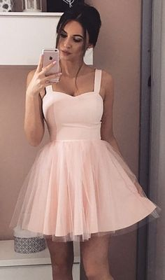 Pretty baby pink cute dress.