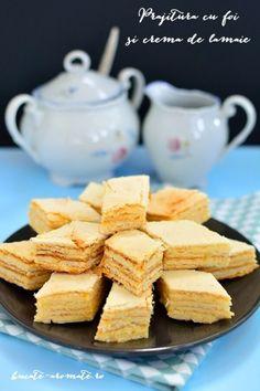 Lemon Layer Cakes, Romanian Desserts, Food Cakes, Pavlova, Soul Food, Food Inspiration, Cookie Recipes, Bacon, Sweet Treats
