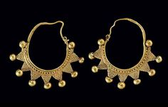 Gold Roman Earrings | Syria | Circa 1st - 2nd century AD.