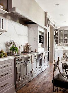 Gray cabinets. South Shore Decorating Blog: Sunday Dreaming - Randomly Beautiful Rooms