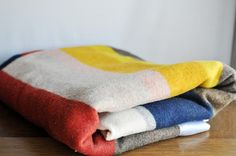 Vintage Wool Striped Blanket ~ estatehound