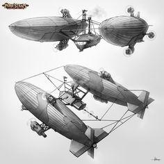 PURE STEAM - War Zeppelin by 47ness.deviantart.com on @deviantART