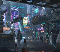 Sometimes it's hard to know where cyberpunk is and where science fiction is. What is on the picture? What is the main attribute of…