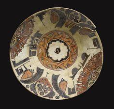 A Persian Nishapur Bowl, circa Antique Plates, Ceramic Plates, Ceramic Pottery, Pottery Art, Islamic Decor, Islamic Art, Ancient Persian, Oriental, Iranian Art
