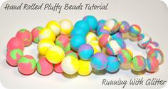 it's like a clay craft-how to make beads from puff paint