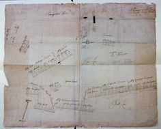 Revolutionary Map  This map of General Washington's Army at Valley Forge seems to be a contemporaneous record of Washington's positions at this historic site. We do not believe that this map has been studied or published.    It was discovered in papers assoicated with Newporter John Austin Stevens (1827-1910), founder of the Sons of the Revolution and a principal in the effort to save Fraunces Tavern in New York.