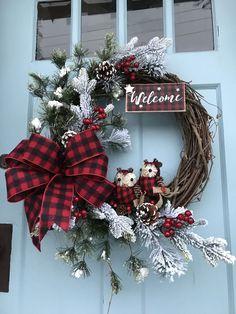 Noël Teardrop Couronne SWAG Porte Mur de guirlandes de Noël à suspendre decor