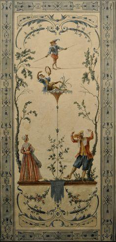 Singerie Regence ORIGINAL ART - Ornament PAA-2005 : The Decorator Archives