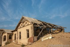 Kolmanskop: why to visit Namibia's ghost town - Roxanne Reid Haunted Places, Ghost Towns, Abandoned, Blade, Cabin, Vacation, House Styles, Left Out, Vacations