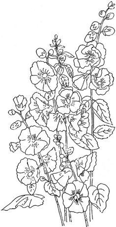 There is another craze is to draw patterns, flowers, mandala patterns in ink. Then you can even color them using color pencils. Embroidery Designs, Embroidery Transfers, Ribbon Embroidery, Cross Stitch Embroidery, Pattern Coloring Pages, Flower Coloring Pages, Coloring Book Pages, Floral Drawing, Drawing Flowers