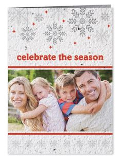 Custom Holiday Photo Cards : Celebrate The Season -  PSC This 4.38 x 6.125 inch folding card features your photo and custom message on our plantable seed paper embedded with wildflower seeds.