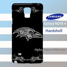 Baltimore Ravens Black Elegant Samsung Galaxy Note 4 Case Cover