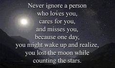 Never Ignore A Person Who Loves You