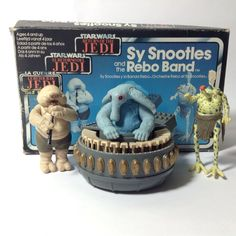 Vintage Kenner Star Wars Figure Playset - Max Rebo Sy Snootles Droopy Band Boxed   eBay