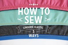 Great pictures to help aid you in sewing elastic so to your handmade lingerie, or maybe adding new elastic to some of your favorite store bought lingerie.