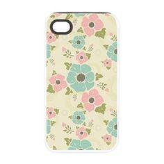 "Nostalgic flowers iPhone 4/4S Tough Case Beige seamless vintage pattern ""Nostalgic flowers""  $32.49"