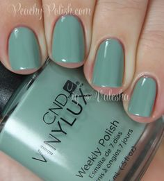 CND Vinylux Sage Scarf - Peachy Polish - would be a unique (pretty!) addition to my collection. #green/blue
