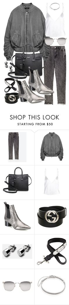 """""""Untitled #20507"""" by florencia95 ❤ liked on Polyvore featuring Yves Saint Laurent, Kendall + Kylie, Gucci, Givenchy, Linda Farrow and Eddie Borgo"""