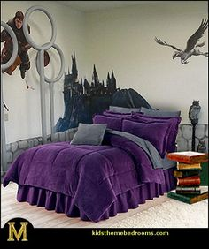 Harry Potter Bedroom Decorating Ideas For my future child... But it's actually for me. sorry not sorry.
