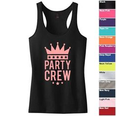 Party Crew Racerback Tank Bachelorette Party tees, Bridal Shower tees
