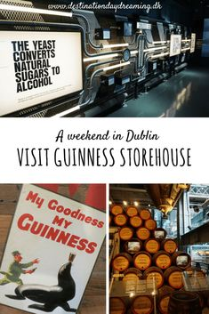 Guinness Storehouse Dublin - a must see on a weekend in Dublin! Read about our visit on the blog. Destinationdaydreaming.dk