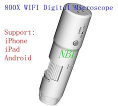 800X WIFI Digital Microscope 8*LED 25X-800X Wireless Biological Microscopes For IOS/Android Magnifier 640*480 Pixels Loupes //Price: $92.34//     #electonics