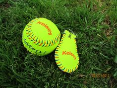 softball keychain