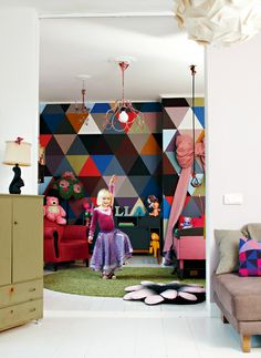 Eclectic & eccentric little girl's room. FUN.