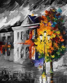LYRICAL HOUSE deal of the day. Mixed media oil on canvas/limited edition giclee on canvas by L.Afremov afremov.com/...