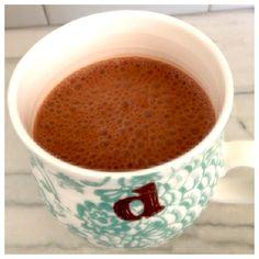 Mexican Almond Milk: 1 c almond milk, 1 tsp vanilla, 1/2 tsp cinnamon, 1/4 tsp cayenne, 1 tbsp raw cacao, 1 tsp maca powder, pinch of salt, stevia to taste - blend and warm.