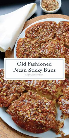Old Fashioned Pecan Sticky Buns + Video - Pecan Caramel Sauce - Pecan Sticky Buns are the best hot sticky bun recipe out there, made just the way grandma on the farm made them with a caramel pecan sauce. Pecan Cinnamon Rolls, Pecan Rolls, Overnight Cinnamon Rolls, Pecan Recipes, Sweet Recipes, Cooking Recipes, Recipes With Pecans, Bread Recipes, Pecan Sticky Buns