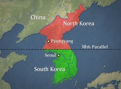 de Koreaanse oorlog werd gevoerd in de twee landen: Noord en Zuid Korea(vandaar deze foto). deze landen liggen bij China en Japan. de oorlog was van 1950 tot en met 1953. hoeveel mensen gewond en om het leven zijn gebracht in niet precies bekend