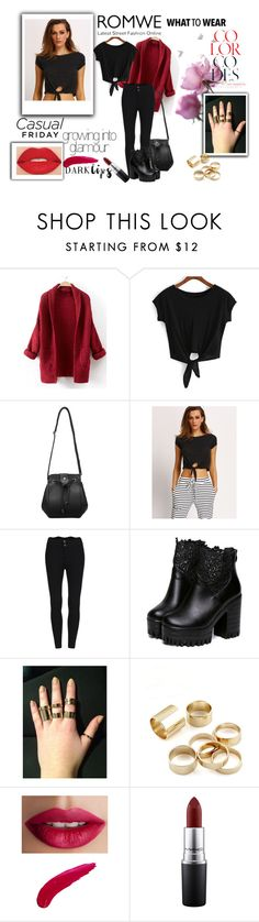 """""""Knotted Black T-shirt"""" by smajicelma ❤ liked on Polyvore featuring TheBalm, MAC Cosmetics and Smashbox"""