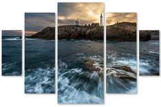 Mathieu Rivrin The Lighthouse Multi-Panel 5-Pc. Art Print Set #affiliate