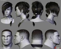 ArtStation - Gears of War Hairstyles 02, Dani Garcia