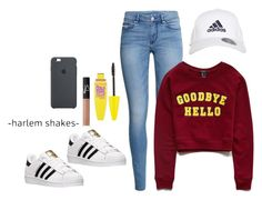"""Girl bye"" by goldeneyes8 ❤ liked on Polyvore featuring H&M, Forever 21, adidas, Maybelline and NARS Cosmetics"