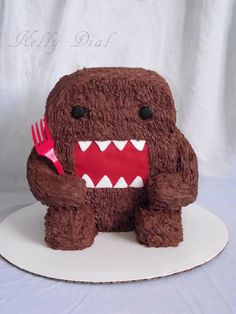 Domo-Kun - A Domo-Kun cake for a special little guys first birthday.