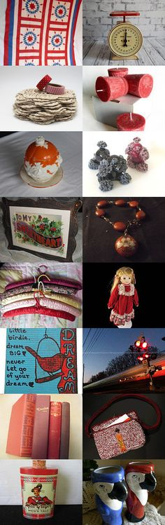 Attic trunk reds  by Terri B at TrulyMe on Etsy--Pinned+with+TreasuryPin.com