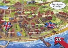 Walmington on Sea from Dad's Army Durham Museum, Dad's Army, Bbc Tv Series, War Film, Jolly Roger, England And Scotland, Great British, Classic Tv, Clash Of Clans