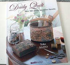Photo from her book Daily Quilt, for use on my blog post about her work.  Here's the link to my blog post.