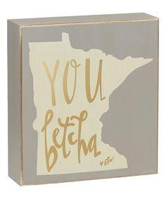 Love this Minnesota Box Sign on #zulily! #zulilyfinds