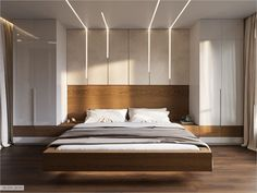Ceiling design bedroom - Riverside on Behance Wardrobe Design Bedroom, Master Bedroom Interior, Luxury Bedroom Design, Bedroom Bed Design, Bedroom Furniture Design, Home Interior, Bedroom Designs, Furniture Layout, Cozy Bedroom