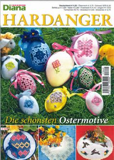 This Easter issue is packed with the most adorable Hardanger projects imaginable!   There is a table topper surrounded by a family of ducks, bunnies and eggs, traditional white-on-white design, tulips and baskets, or one with Easter eggs with incredible filling stitches.  Learn how to create the 3-D Easter eggs on the cover or the adorable bunny ornament. Create a lovely Easter egg hanging  There is a Spring runner, even a runner with a chicken on it.  Stitch the banded bow for a basket or…